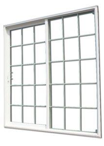 Aluminum Patio Door With Grids