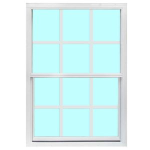 Aluminum Single Pane White 6x6 Grid Window