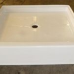 42x42 Fiberglass Shower Pan(White or Bone)