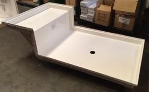 Superbe 42x72 Fiberglass Shower Pan (White Or Bone)