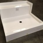 48x48 Fiberglass Shower Pan (White or Bone)