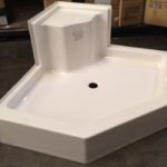 48x48 Fiberglass Corner Shower Pan (White or Bone)