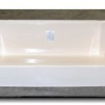 54x27 Fiberglass Shower Pan (White or Bone)