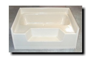 5442 54x42 Fiberglass Garden Tub (White Or Bone)