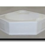 5454CAR 54x54 Fiberglass Corner Tub (White or Bone)