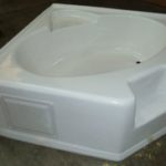 5454CARS 54x54 Fiberglass Corner Tub (White or Bone)