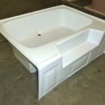 60x42 ABS Garden Tub (White or Bone)