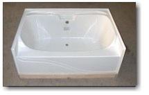 6042JW 60x42 Fiberglass Garden Tub (White Or Bone)
