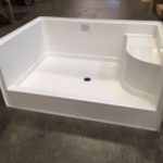 60x42 Fiberglass Shower Pan (White or Bone)
