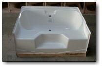 6048JW 60x48 Fiberglass Garden Tub (White Or Bone)