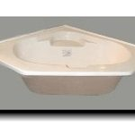 6060NC 60x60 Fiberglass Corner Tub Without Apron (White or Bone)