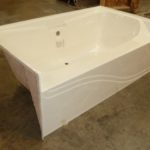7242JW 72x42 Fiberglass Garden Tub (White or Bone)