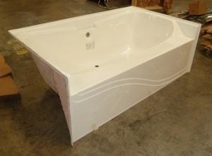 7242JW 72x42 Fiberglass Garden Tub (White Or Bone)